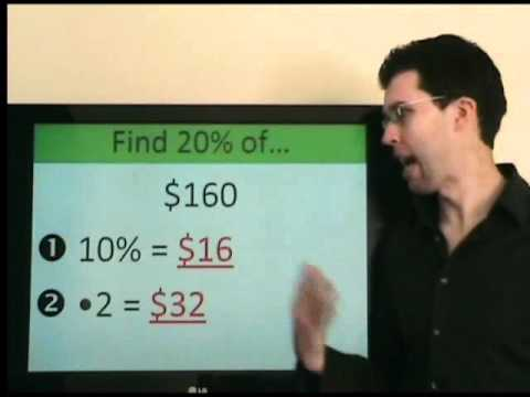 How to find 15% of a number in your head - calculate restaurant tip