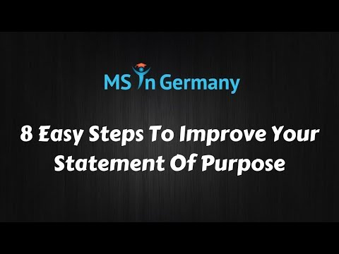8 Easy Steps To Improve Your SOP - MS in Germany™