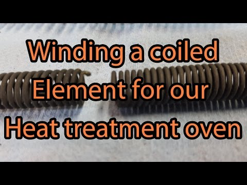 Making a new coiled heater element for a heat treat oven or a kiln using Kenthal A1 wire