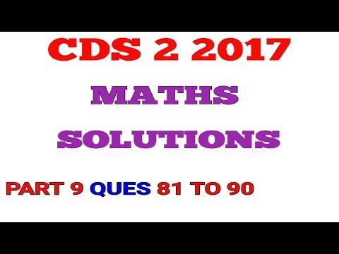 CDS 2 2017 Maths Full Paper Solution Part 9