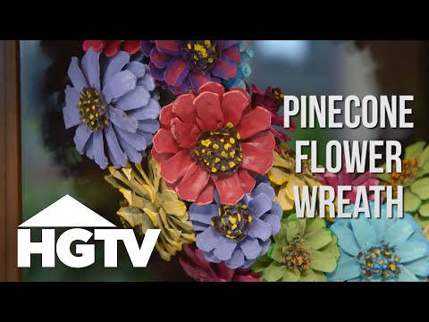 How to Make a Pinecone Flower Wreath - Easy Does It - HGTV