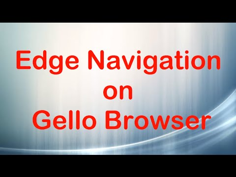 How to Enable Edge Navigation on Gello Browser
