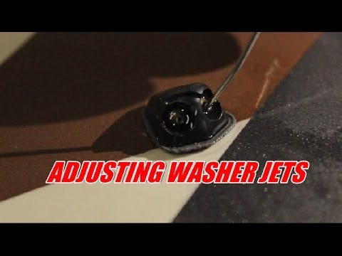 how to adjust your washer jets.