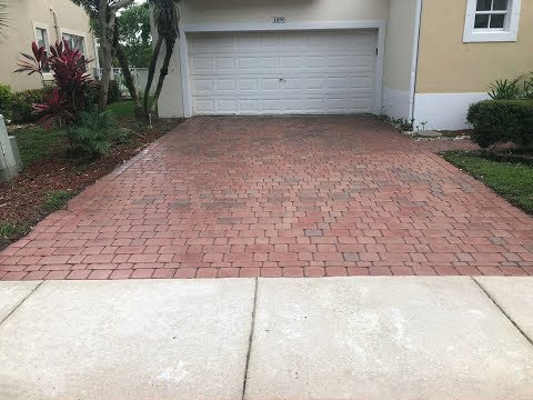 How to Stain Concrete Paving Stones, Staining Faded Concrete Pavers