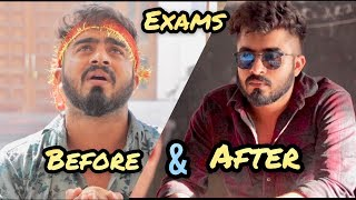 Before and After Exams || HALF ENGINEER