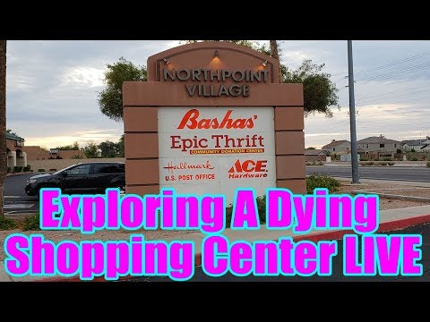 Exploring A Dying Shopping Center LIVE! | Retail Archaeology