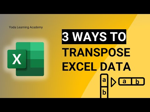 Two ways to Transpose Data | Paste Special | Excel Formulas