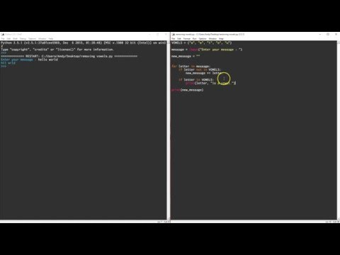 Removing Vowels in Python [Part 1]