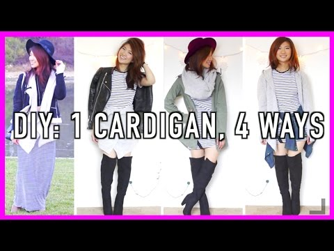 DIY: How to Wear a Cardigan 4 Ways!