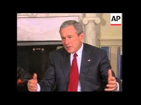 Italian PM meets US President Bush, iraq comments