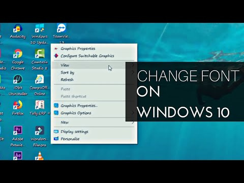 How to change the default Windows 10 system font | 2018