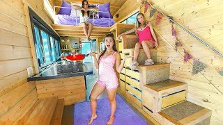 Download 24 Hours in a Tiny House with My Sisters Video