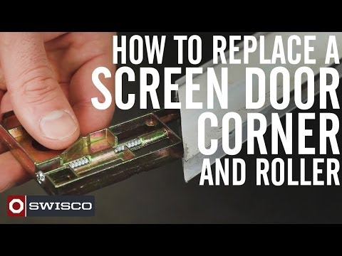 How to Replace a Screen Door Corner and Roller [1080p]