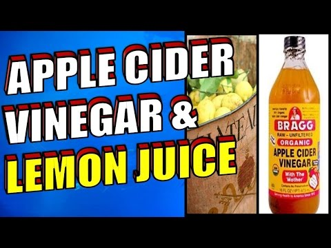 The Benefits of Apple Cider Vinegar & Lemon Juice For Weight Loss and Healthy Skin