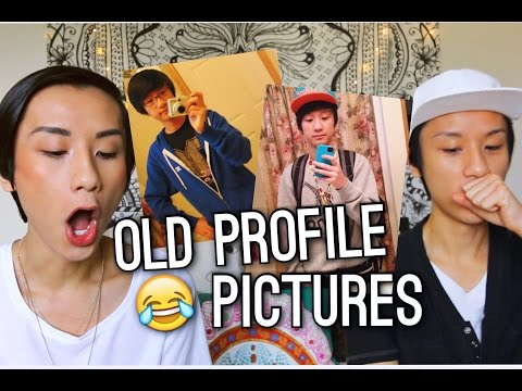 Twins React to Old Profile Pictures!