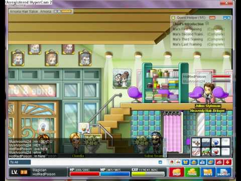 Maple Story- Noobs go out for haircuts!