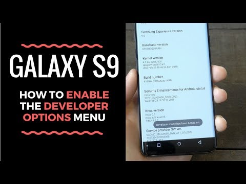 How to Enable the Galaxy S9 Developer Options Menu