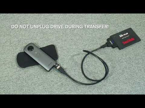 TESTING: Ricoh Theta V USB Data Transfer to SSD Drive