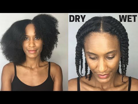 FLAT TWIST OUT ON DRY HAIR vs WET HAIR | Olivia Rose