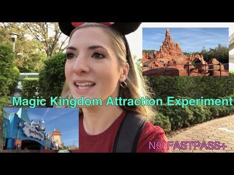 Magic Kingdom Attraction Experiment: NO FastPass+