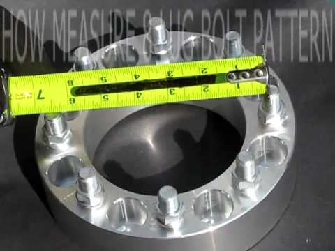 HOW TO MEASURE  8 LUG WHEEL BOLT PATTERN