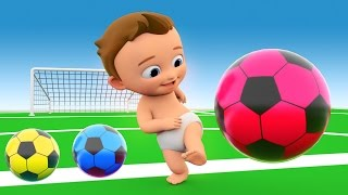 Download Soccer Game Play by Little Baby with Soccer Balls to Learn Colors for Children - 3D Kids Learning Video
