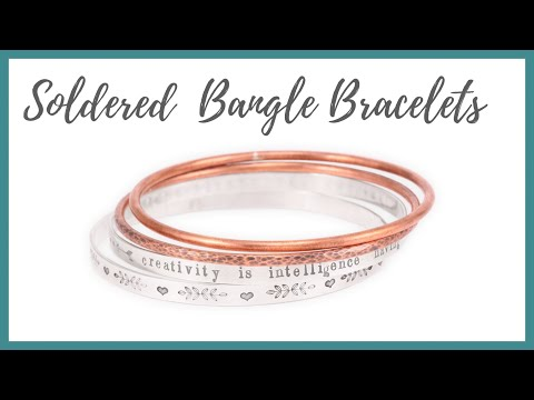 Soldered Bangle Bracelets Tutorial - Beaducation.com