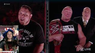 WWE Raw 7/3/17 Samoa Joe and Brock Lesnar Backstage
