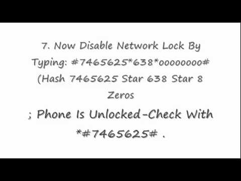 How To Unlock A SamSung Phone For FREE!!!.FLV
