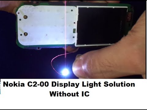 Nokia C2-00,C1-01 Display Light Solution Without IC (Transistor,Boost Coil And Diode)