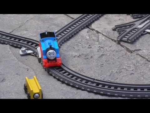 Thomas and Friends Trackmaster set - Track Pack layout outside!