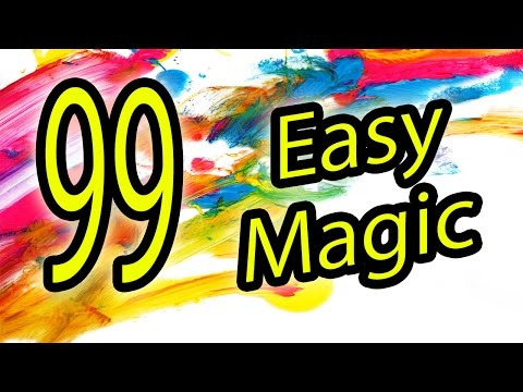 99 Easy magic Tricks to do at home