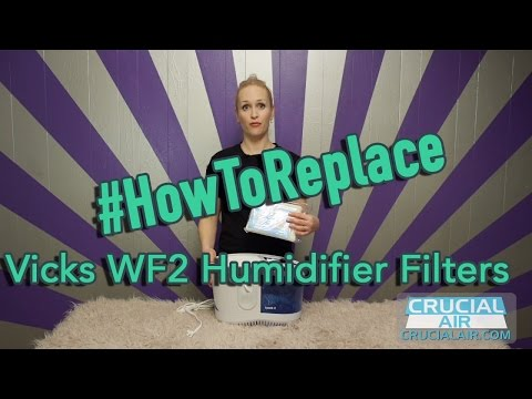 Replace Vicks WF2 Humidifier Filters, Part # WF2