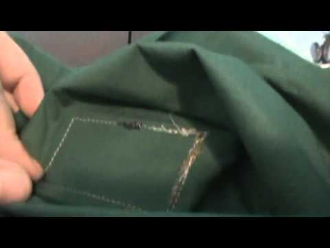 Tip for sewing Adhesive backed Velcro on Shirt or BDU.  And another tip.