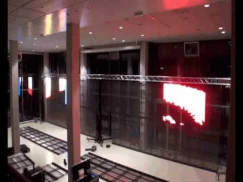 Exhibition WEloveDIPLOMA setting up BIG LED-WALL