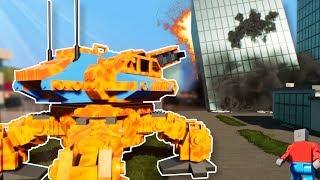 MECH BATTLE IN NEW LEGO CITY! - Brick Rigs Multiplayer Gameplay - Lego Mech Battle