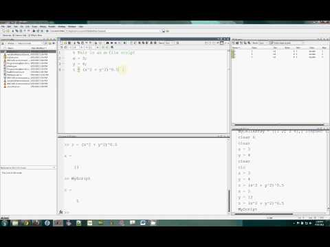 GSBmE MATLAB Introduction: (3) Scripts and functions