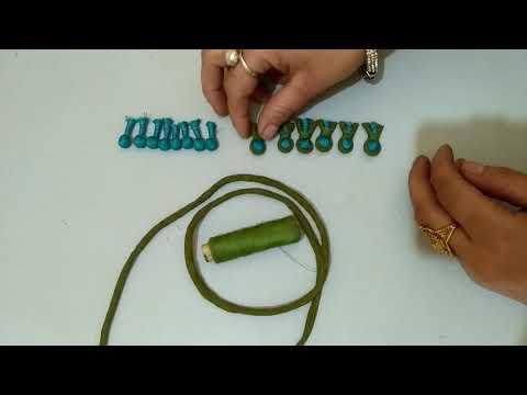 Dori wali potli button/How to make foam dori potli button