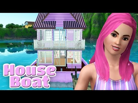 The Sims 3 House Tour - Pretty in Pastel Pink House Boat - Island Paradise Expansion Pack