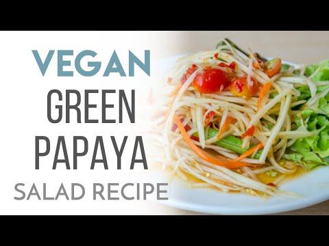 Vegan Green Papaya Salad Recipe
