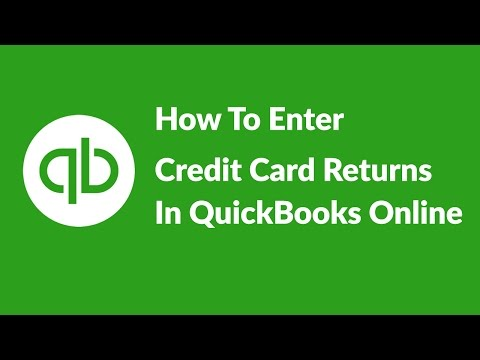 How To Enter Credit Card Transactions In QuickBooks Online