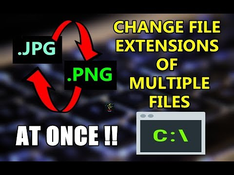How To Change Extension Of Multiple Files at Once ? | Windows Command Line Trick
