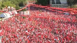 Massive crowds at final rallies before Turkish election