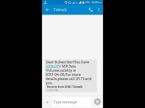 1GB Data On Teletalk @21tk for 30 Days(24hour usable)