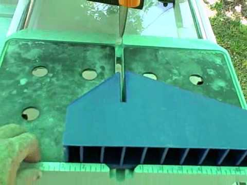 How the pros cut miters on a tile saw
