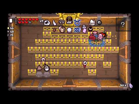 The Binding of Isaac: Rebirth - Blank Card and Jera (Abundance) Rune on The Chest
