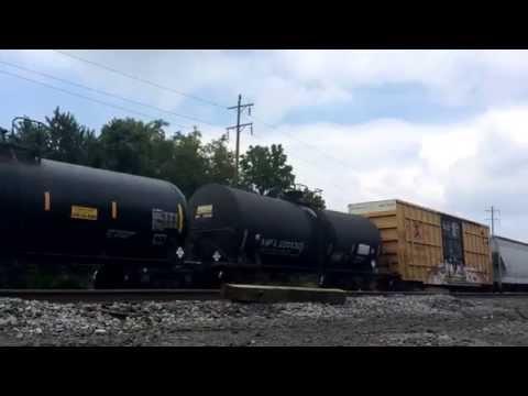 CSX units fly by Hershey PA