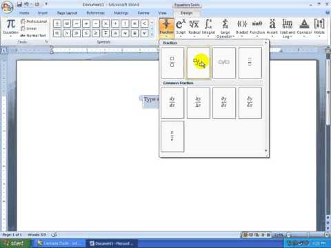 13) MS Word 2007 (Bangla Tutorial) - How to Write Math Equation