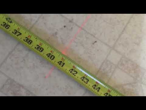 How to lay flooring using a laser