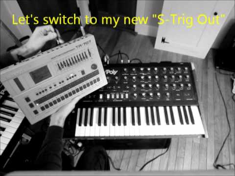 TR-707 Modified to Drive a Korg Mono/Poly